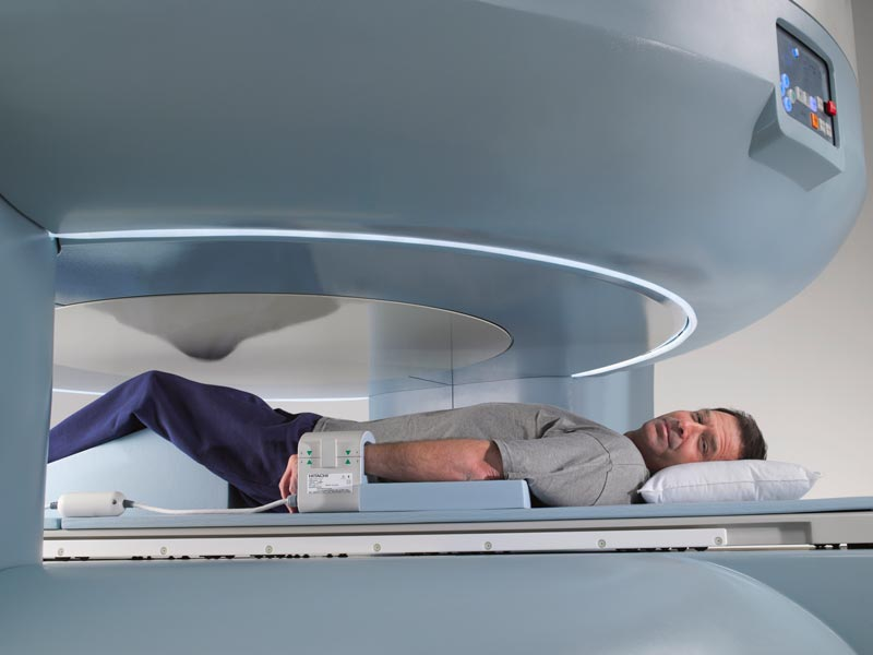 picture of an open mri machine